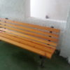 παγκάκι μεταλλικό με ξύλα