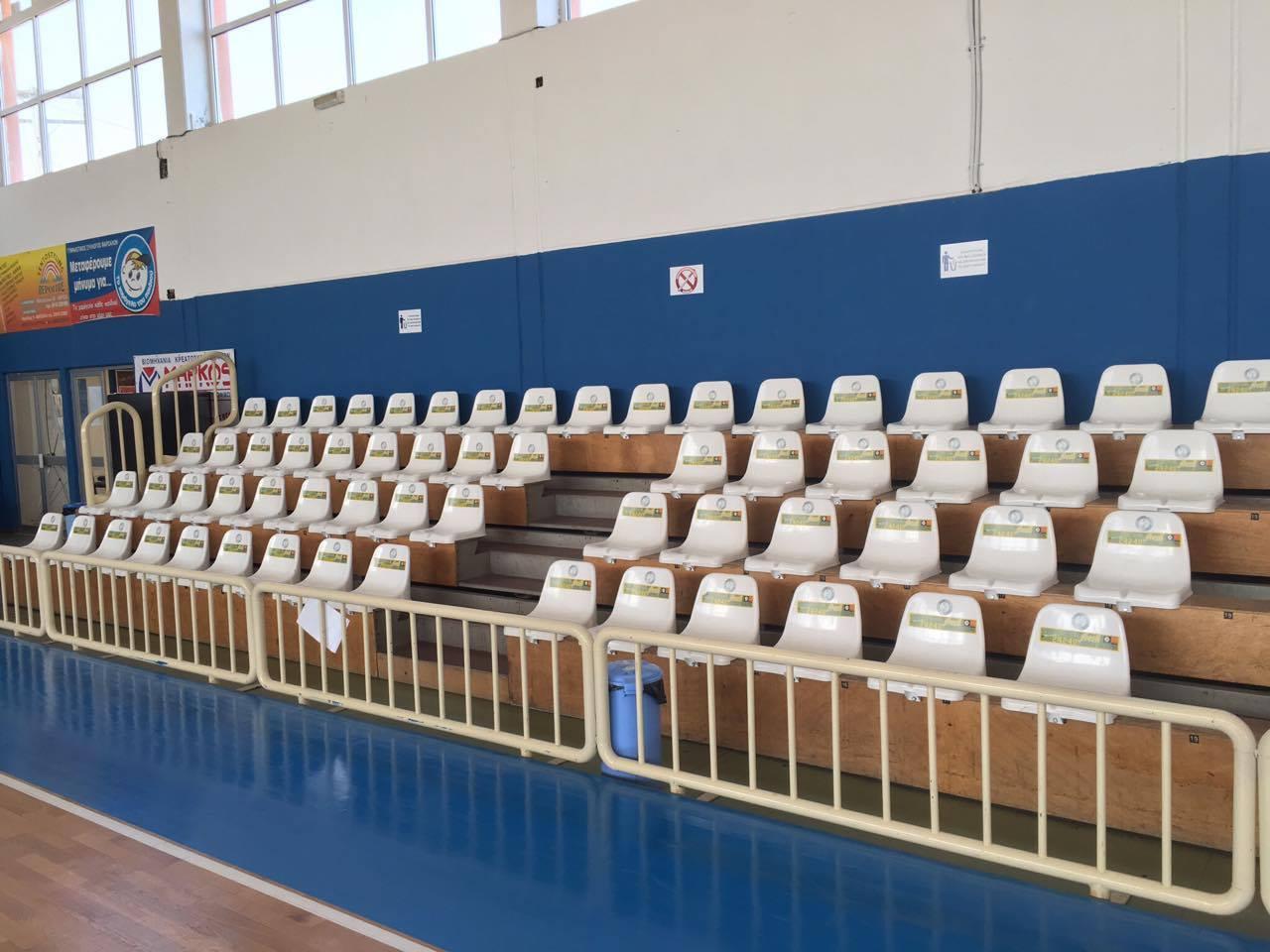 Read more about the article Τοποθέτηση Καθισμάτων Σταδίου στα Φάρσαλα