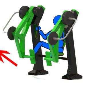 Όργανο εκγύμνασης με μεταβλητό βάρος Leg Extension – Έκταση Ποδιών