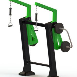 Όργανο εκγύμνασης με μεταβλητό βάρος Pull Down – Έλξεων ώμων