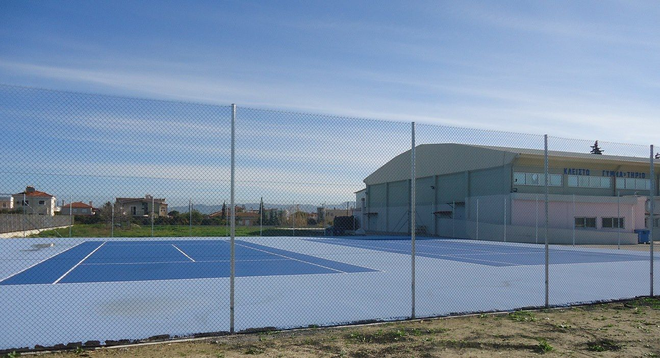 Δημιουργία γηπέδου τέννις στο Βραχάτι Κορινθίας